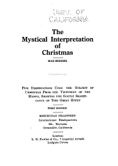 The Mystical Interpretation of Christmas