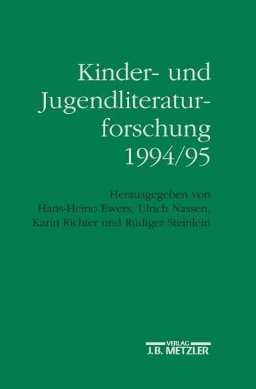 Kinder  und Jugendliteraturforschung 1994 95 PDF