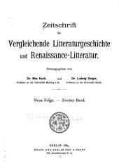 Zeitschrift Für Vergleichende Litteraturgeschichte ...: Band 2