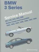 BMW 3 Series Service Manual  M3  318i  323i  325i  328i  Sedan  Coupe and Convertible 1992  1993  1994  1995  1996  1997  1998