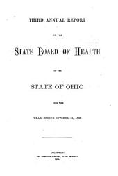 Annual Report of the State Board of Health of the State of Ohio, for the Year Ending