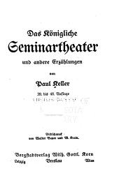 Das königliche seminartheatre und andere erzählungen 39. bis 48