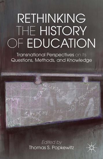 Rethinking the History of Education PDF