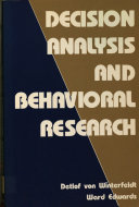 Decision Analysis and Behavioral Research