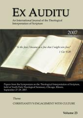 Ex Auditu - Volume 23: An International Journal for the Theological Interpretation of Scripture