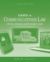 Cases in Communications Law PDF