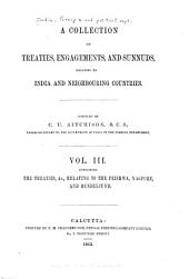 A Collection of Treaties, Engagements, and Sunnuds Relating to India and Neighbouring Countries: Volume 3