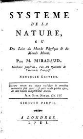 Système de la nature, ou Des loix du monde physique & du monde moral
