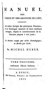 Manuel des curieux et des amateurs de l'art, contenant une notice des principaux graveurs, et un catalogue raisonné de leurs meilleurs ouvrages, par M. Huber et C.C.H. Rost (C.G. Martini).