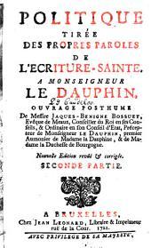 Politique tirée des propres paroles de l'Ecriture-Sainte a Monseigneur Le Dauphin