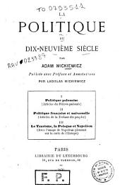 La politique du dix-neuvième siècle par Adam Mickiewicz