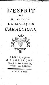 L'esprit de Monsieur le marquis Caraccioli