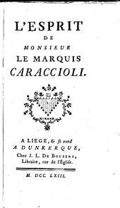 L'esprit de Monsieur le marquis Caraccioli