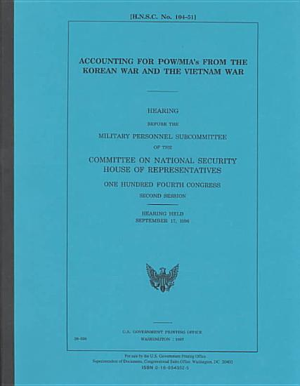 Accounting for POW   MIAs from the Korean War and the Vietnam War PDF