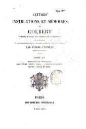 Lettres, instructions et mémoires de Colbert: Marine et galères, Volume3