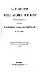 La Filosofia delle scuole italiane: Volume 3