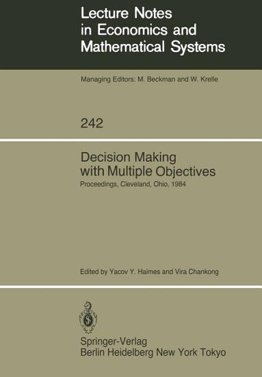 Decision Making with Multiple Objectives PDF