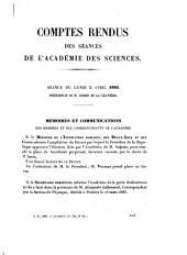 Comptes rendus hebdomadaires des séances de l'Académie des sciences: Volume102,Numéros14à26