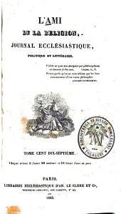 L'Ami de la religion: Volume117