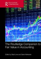 The Routledge Companion to Fair Value in Accounting PDF