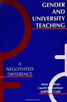 Gender and University Teaching PDF