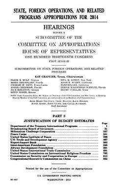 State  Foreign Operations  and Related Programs Appropriations for 2014 PDF