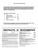 Abstracts in Biocommerce PDF