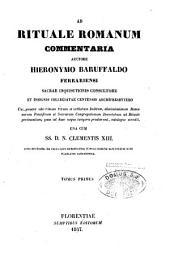 Ad rituale Romanum commentaria: Volume 1