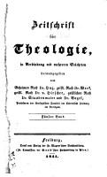 Zeitschrift f  r Theologie  in Verbindung mit mehreren Gelehrten PDF
