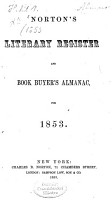 Norton s literary register and book buyer s almanac or annual book list PDF