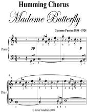 Humming Chorus Madame Butterfly Easy Piano Sheet Music
