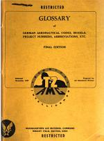 Glossary of German aeronautical codes, models, project numbers, abbreviations, etc