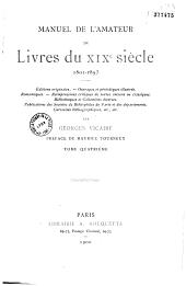 Manuel de l'amateur de livres du XIXe siècle: 1801-1893, Volume1