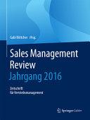 Sales Management Review   Jahrgang 2016 PDF