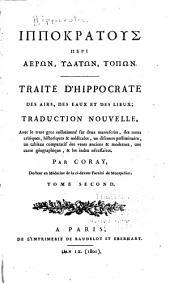 Traité d'Hippocrate des airs, des eaux et des lieu
