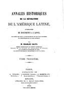 Annales historiques de la r  volution de l Am  rique latine PDF