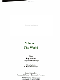 World Geography  The World