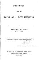 Works of Samuel Warren  Passages from the diary of a late physician PDF