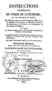 Instructions générales en forme de catéchisme... par ordre de Mgr de Charancy, Ev. de Montpellier