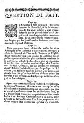 Seconde lettre de Monsieur Arnauld, docteur de Sorbonne, a un duc et pair de France: pour seruir de response à plusieurs escrits, qui ont esté publiez contre sa premiere lettre; sur cequi est arriué à un seigneur de la cour, dans une Parroisse de Paris