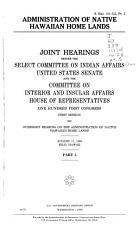 Administration of Native Hawaiian Home Lands  August 11  1989  Hilo Hawaii PDF