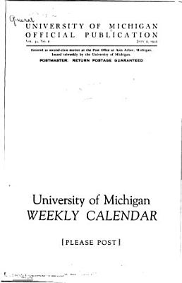 University of Michigan Official Publication PDF