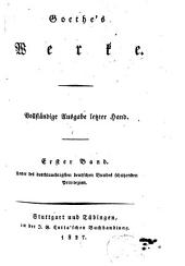 Goethe's Werke: Band 1