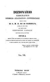 Dizionario geografico, storico, statistico, commerciale degli stati di S.M. il re di Sardegna: Volume 7