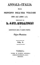 Annali d'Italia, dal principio dell'era volgare sino all'anno MDCCL.