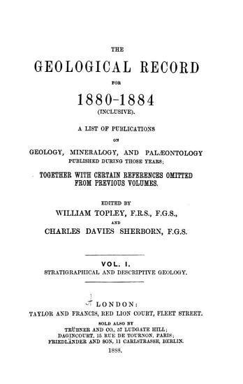 The Geological Record for     PDF