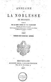 Annuaire de la noblesse de Belgique: Volume20