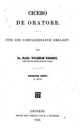 De oratore: 2. Buch, Volume 2