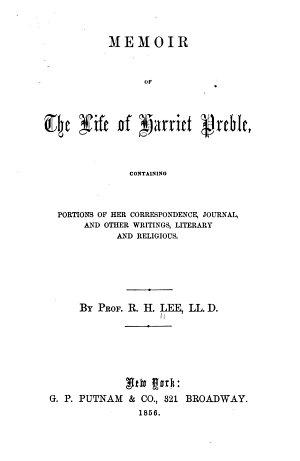 Memoir of the Life of Harriet Preble