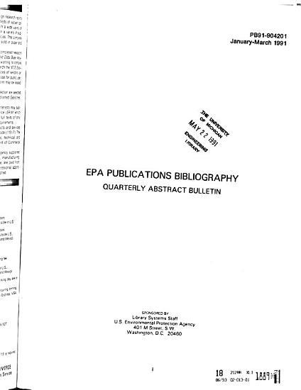 EPA Publications Bibliography PDF